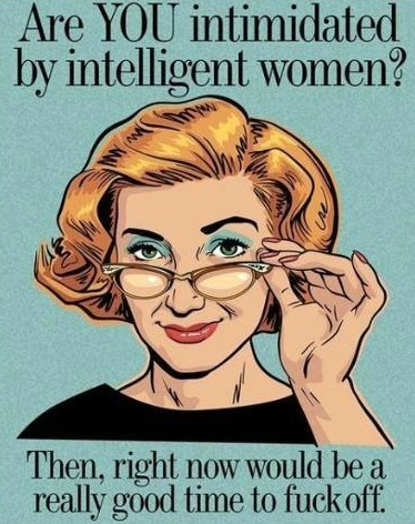 intelligent woman